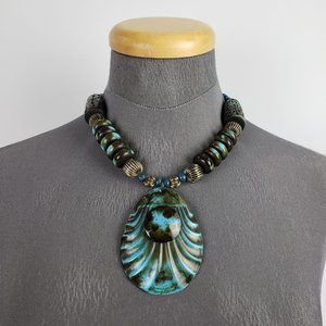 Blue & Green Beaded Necklace
